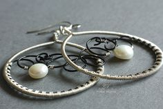 Pearl earrings | by Eni Fenyvesi