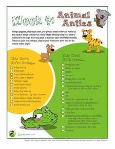 Hungry puppies, clothespin zoos, and plastic bottle critters all make up this week's set of summer fun. These ideas will help keep your child's mind active through those dog days of summer (pun definitely intended). Throw on your zebra stripes, slap on your rhinoserous horn, and let the animal antics begin!