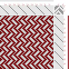 Hand Weaving Draft: Plate Figure Dictionary of Weaves Weaving Designs, Weaving Projects, Weaving Patterns, Inkle Loom, Loom Weaving, Hand Weaving, Knitting Charts, Knitting Patterns, Monks Cloth