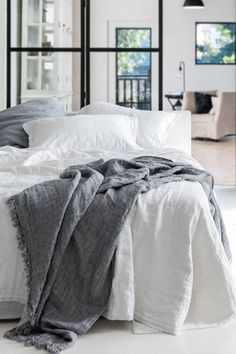 Hampton Linen Quil. Linen is such a lovely everyday fabric – substantial without being too heavy – and it's always a popular choice for furnishings as a result.