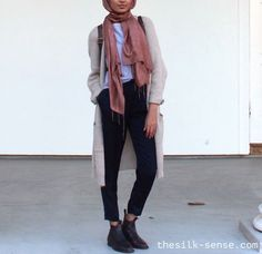 Maxi vests and cardigans hijab style http://www.justtrendygirls.com/maxi-vests-and-cardigans-hijab-style/