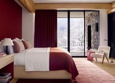 Rustic Bedroom by Atelier AM and Finholm Architects in Aspen, Colorado