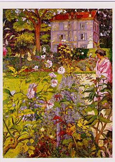 Morning In the Garden at Vauxcresson, 1937, Edouard Vuillard