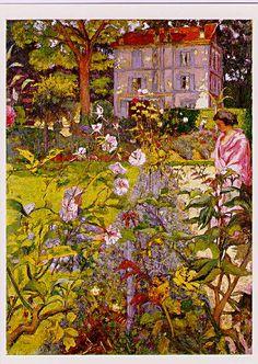 Morning In the Garden at Vauxcresson, 1937, Edouard Vuillard