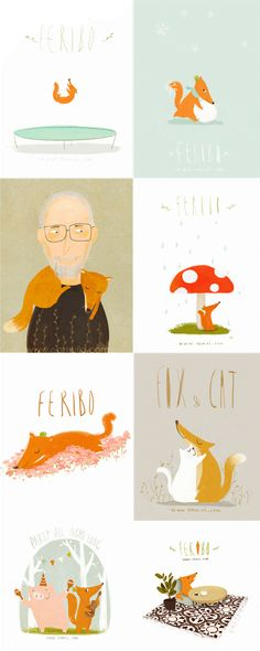 We love these illustrated gifs!  animated illustrations  gif
