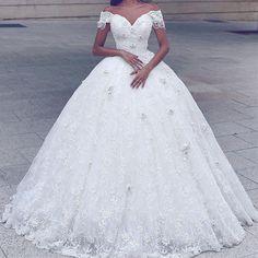 Weiß Elfenbein A-Linie Spitze Brautkleider Hochzeitskleid Abendkleid Ballkleid+ | eBay