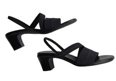 Life Stride  JIFFY Black Strappy Sandals