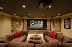 basement media room family room combination perfect royal bedroom luxury home de. basement media room family room combination perfect royal bedroom luxury home decoration interior d Style At Home, U Couch, Couch Set, Home Theater Rooms, Cinema Room, Cinema Theatre, At Home Movie Theater, Dream Theater, Basement Remodeling