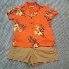Tommy Bahama silk shirt Tommy bahama womens shirt.  100% silk super cute summer pattern!! Tommy Bahama Tops Button Down Shirts