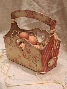 "Короб "" Ситцевый"" для яиц,лука,чеснока фруктов,для пасхи. - короб для хранения"