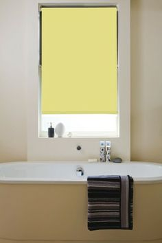 Buttercup Waterproof PVC Roller Blind - Fully made to measure from £29.99. Easy to fit, easy to clean, lots of different colours avaialable. Follow us for more ideas and please Re-Pin thanks #interior #orderblindsonline