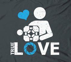 Portal true love  Aperture video game tee tshirt by TheShirtDudes, $15.25