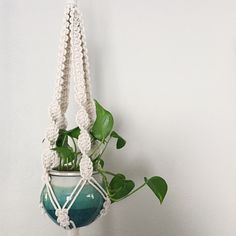 New Macrame Plant Hanger Pattern available now. ✨