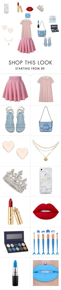"""""""little sisters creation"""" by kittykatlove69 ❤ liked on Polyvore featuring Tory Burch, Ted Baker, Garrard, Skinnydip, Lime Crime, Luxie, MAC Cosmetics and Jeffree Star"""