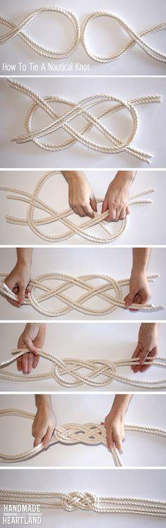 Colar do nó da corda náutica Podia ser usado para uma pulseira ou cinto também. / Nautical Knot Rope Necklace Could be used for a bracelet or belt also.