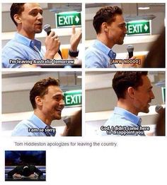 That one time Tom apologized for leaving the country.