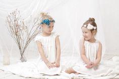 Festmode - Leinen Festkleid, Hochzeit, Taufe, Kommunion Kleid - ein Designerstück von mimiikids bei DaWanda