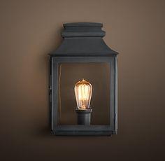 "Vintage French Gas Lantern Sconce 269 7 x 13"""