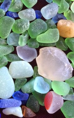 Beach glass, and agate from North Beach, Port Townsend -dm