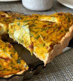 Tarta de calabaza súper rápida y fácil Go Veggie, Veggie Recipes, Gluten Free Recipes, Cooking Recipes, Healthy Recipes, Quiches, Salty Foods, Empanadas, Catering