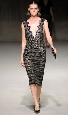 crochet Haute Couture run way   Christopher Kane: grandma chic - Fashion Forum - StyleBistro