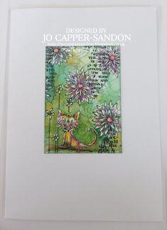 Artwork created by Jo Capper-Sandon using rubber stamps designed by Daniel Torrente for Stampotique Originals