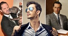 Los mejores 21 perfumes que todo hombre debe reconocer. Round Sunglasses, Mirrored Sunglasses, Mens Sunglasses, Armani Perfume, Gentleman, Mens Fashion, Suits, How To Wear, Clothes