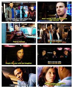 Arrow - Diggle, Barry, Lyla, Roy, Cisco and Oliver #3.8 #Season3 <3 We're not married but now.....<3