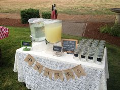 Drink table for my bro's wedding rehearsal dinner that I put together.