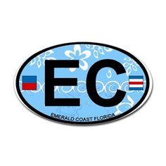 Emerald Coast - Oval Design. Decal on CafePress.com