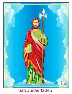 SÃO JUDAS TADEU O Santo São Judas Tadeu, que resolvi fazer com a minha arte ou traço, por assim dizer. Desenho - Ilustração - Illustration - Drawing http://arterocha.blogspot.com.br/