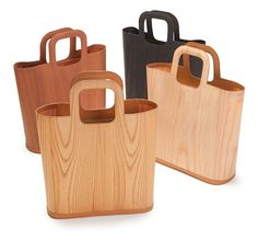 Woodum Tote Shou is a bag made in Japan from thin slices of wood. Waterproof and wonderful.