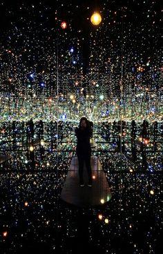 The Souls Of Millions Of Lightyears Away (infiniti mirrored room) by Kusama