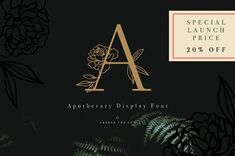 Ad: Inspired by the pharmacist of old's blend of botanical and chemical to create a remedy. We have blended our own love for fine typography and florals to create a remedy for any font lover who needs a little flair in their font library! $16 #sponsored