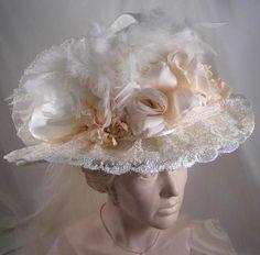 Ivory Victorian Bridal Hat #573