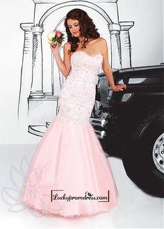 Alluring Tulle Sweetheart Neckline Floor-length Mermaid Evening Dress