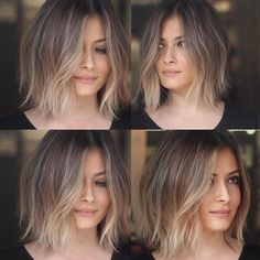 You may find here beautiful shades of balayage ombre hair colors and hairstyles for every woman to wear nowadays. This is best hair color for medium and long hair looks in recent year. Blonde Ombre Short Hair, Brown To Blonde Ombre, Ombre Hair Color, Short Ombre, Ombre Bob Hair, Bob Hair Color, Bob Hair Colour Ideas, Winter Hair Color Short, New Hair