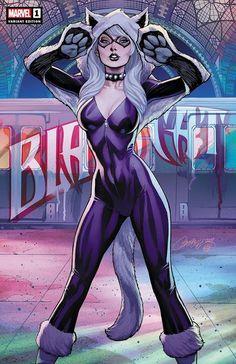 The Comic Ninja - Black Cat by J Scott Campbell Marvel Girls, Marvel Women, Comics Girls, Marvel Comics, Marvel Comic Universe, Marvel Heroes, Comics Uk, Comic Book Characters, Marvel Characters