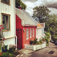 My favorite street in Oslo, Norway, Telthusbakken. by Made with love by Cecilie, via Flickr