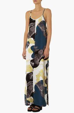 Topshop Marble Print Maxi Dress