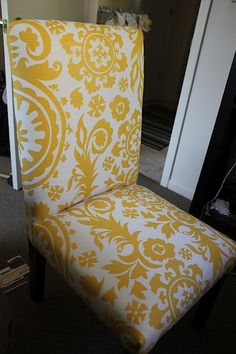 I'd love to redo the dining room chairs!