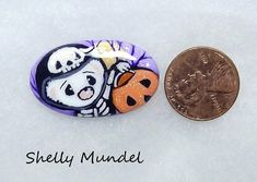 Original Ferret Painting, Whimsy Weasel Stone, Halloween Art- Shelly Mundel #IllustrationArt Halloween Art, Ferret, Original Artwork, Illustration Art, Hand Painted, The Originals, Stone, Painting, Accessories