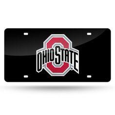 Ohio State Buckeyes Laser Cut License Plate - Black