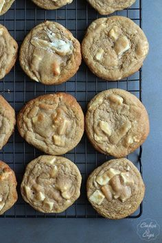 The Best White Chocolate Chip Cookies   Cookies and Cups
