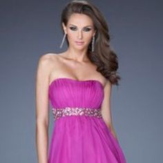 Magenta Strapless Dress