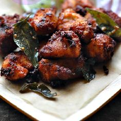 A spicy South Indian fried chicken popularly called Chicken 65