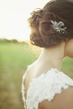 May wedding inspiration, vintage lace wedding dresses, silver bridal hair accessories, updos bridal hairstyle Wedding Hair And Makeup, Wedding Updo, Wedding Pics, Wedding Bells, Wedding Styles, Wedding Dresses, Wedding Ideas, Wedding Paper, Elegant Wedding