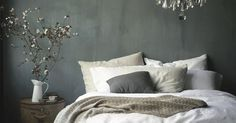 grey and white french bedroom | vduhnovenie | Pinterest | Grey walls, French bedrooms and The chandelier | bedroom | Pinterest