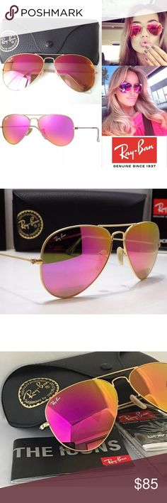 Ray-Ban aviator 112/4t pink lens gold frame 58MM Authentic Ray Bans RB 3025 112/4T   Gold Frame Sunglasses   Frame Information:  Model Number: RB 3025   Frame Color: Gold  Material: Metal   Style: Aviator   Lens Color: Pink   Lens Technology: Mirrored    Made In: Italy   Protection: 100% UV   Gender: Unisex Ray-Ban Accessories Sunglasses