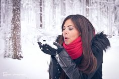 [Perfetti]°02 by Marco Palmer on 500px  #brown #cute #female #forest #frau #fun #girl #long hair #outdoor #outside #red #schnee #shooting #snow #winter #winterwonderland #women #wood #beauty #ice